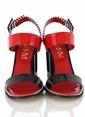 Poletto Topuklu Sandalet Renkli